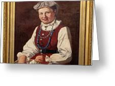 Sigfrid August Keinanen, Woman Standing. Greeting Card