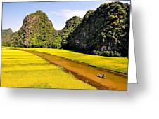 sighseeing on Ngo Dong river Greeting Card