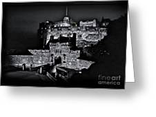 Sights In Scotland - Castle Bagpiper Greeting Card