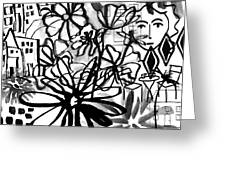 Sightseeing 2- Art By Linda Woods Greeting Card