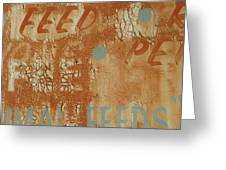 Sign Abstract Greeting Card by Billy Tucker