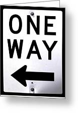 Sign-one-way Greeting Card