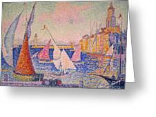 Signac: St. Tropez Harbor Greeting Card by Granger