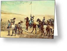 Signaling The Main Command 1885 Greeting Card