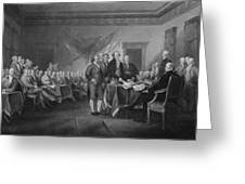 Signing The Declaration Of Independence Greeting Card by War Is Hell Store