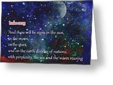 Signs In The Sun Moon Stars Greeting Card