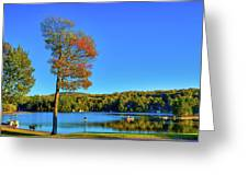 Signs Of Autumn On Old Forge Pond Greeting Card