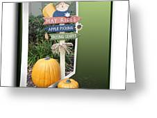 Signs Of Halloween Greeting Card