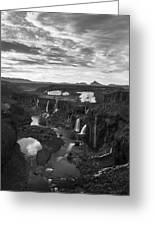 Sigoldufoss Waterfalls Iceland 1291 Greeting Card