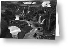 Sigoldufoss Waterfalls Iceland 1294 Greeting Card