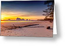 Sikao Sunset Greeting Card