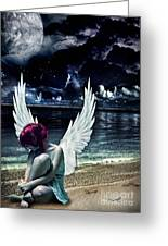 Silence Of An Angel Greeting Card by Mo T