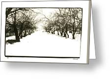 Silenced By The Snow Greeting Card