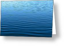 Silent Blue Tranquility Greeting Card