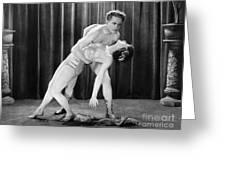 Silent Film Still: Dancing Greeting Card