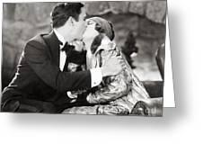 Silent Film Still: Kissing Greeting Card
