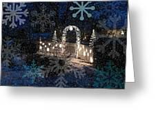 Silent Night Snow Greeting Card