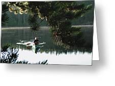 Silent Paddler Greeting Card