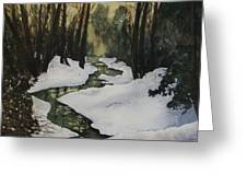 Silent Snow Greeting Card