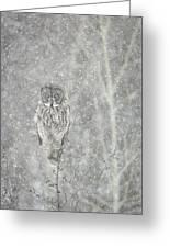 Silent Snowfall Portrait II Greeting Card