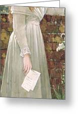 Silent Sorrow Greeting Card by Walter Langley