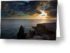 Silent Sunset Greeting Card by Patrick  Flynn