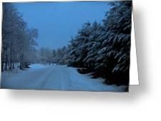 Silent Winter Night  Greeting Card