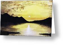 Silhouette Lagoon Greeting Card