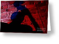 Silhouette Of A Jazz Musician 1964 Greeting Card