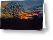 Silhouette Sunset 004 Greeting Card