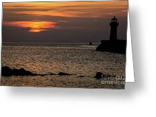 Silhouetted North Pier  Greeting Card
