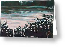 Silhouetted Serenity Greeting Card