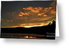 Silhouettes And Sunsets Greeting Card