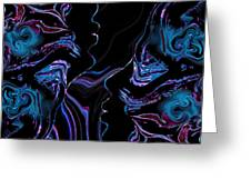 Silhouettes In Black Light. Greeting Card