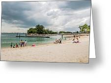 Siloso Beach Greeting Card