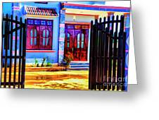 Silk Factory Owners Home Greeting Card