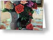 Silk Flowers Greeting Card