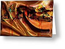Silk Folds Greeting Card