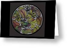 Silk Leaves Greeting Card