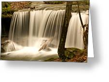 Silken Waterfall Greeting Card