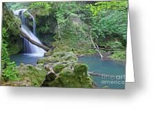 Silky Waterfall Greeting Card