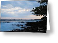 Silky Waves At Dusk Greeting Card