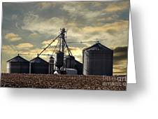Silo In The Clouds Greeting Card
