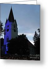 Silute Lutheran Evangelic Church Lithuania 01 Greeting Card
