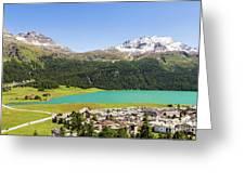 Silvaplana In Canton Graubunden, Switzerland Greeting Card