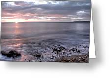 Silver Beach Greeting Card by Svetlana Sewell