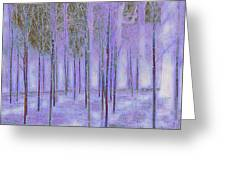 Silver Birch Magical Abstract  Greeting Card