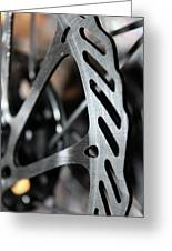 Silver Brake Greeting Card by Angie Wingerd