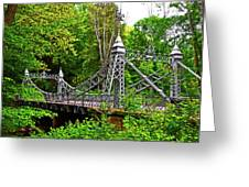 Silver Bridge 004 Greeting Card