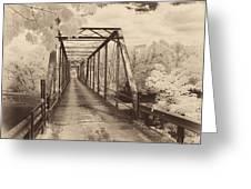 Silver Bridge Antique Greeting Card